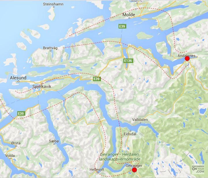 Day Ålesund Trollstigen Geiranger The Most Beautiful Of - Norway map alesund