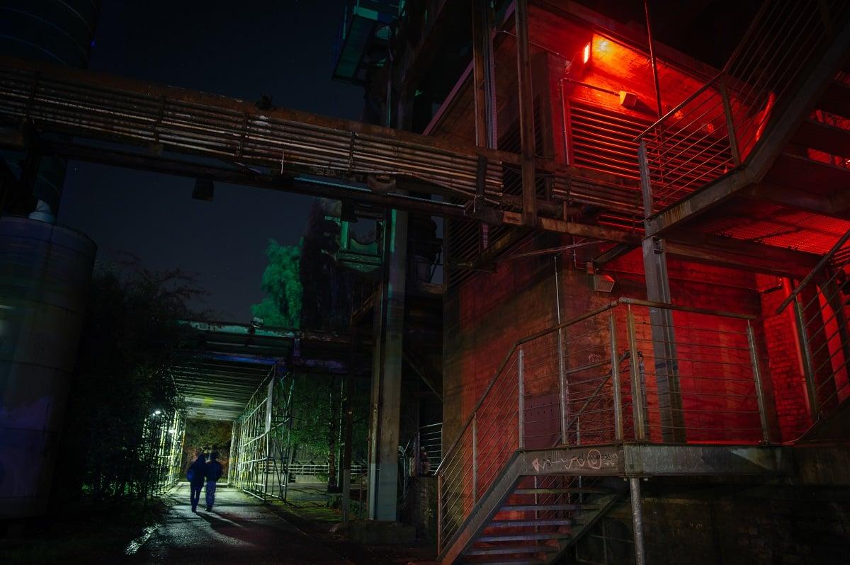 Lux Helsinki, colorful lights at darkest night